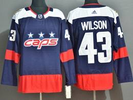 Mens Nhl Washington Capitals #43 Tom Wilson Blue Adidas Jersey