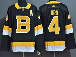 Mens Nhl Boston Bruins #4 Bobby Orr Black Adidas Jersey(big Number)
