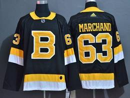 Mens Nhl Boston Bruins #63 Marghand Black Adidas Jersey(big Number)
