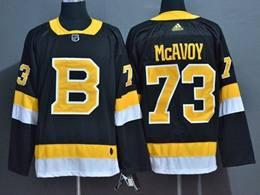 Mens Nhl Boston Bruins #73 Charlie Mcavoy Black Adidas Jersey(big Number)