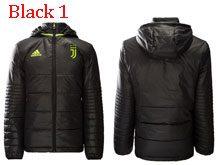 Mens Soccer Juventus Club Black Winter Jacket