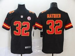 Mens Women Youth Nfl Kansas City Chiefs #32 Tyrann Mathieu Black Vapor Untouchable Limited Jersey