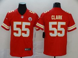 Mens Nfl Kansas City Chiefs #55 Frank Clark Red Vapor Untouchable Limited Jersey