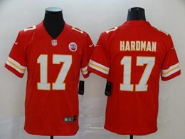 Mens Nfl Kansas City Chiefs #17 Mecole Hardman Red Vapor Untouchable Limited Jersey