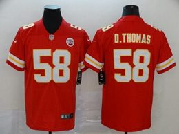 Mens Nfl Kansas City Chiefs #58 Derrick Thomas Red Vapor Untouchable Limited Jersey