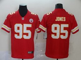 Mens Nfl Kansas City Chiefs #95 Chris Jones Red Vapor Untouchable Limited Jersey