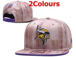 Mens Nfl Minnesota Vikings Gray&pink Snapback Adjustable Hats 2 Colors
