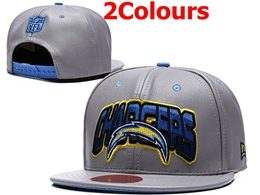 Mens Nfl Los Angeles Chargers Gray&black Snapback Adjustable Hats 2 Colors