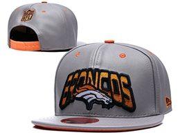 Mens Nfl Denver Broncos Gray Snapback Adjustable Hats