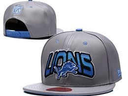 Mens Nfl Detroit Lions Gray Snapback Adjustable Hats