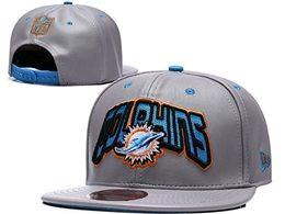 Mens Nfl Miami Dolphins Gray Snapback Adjustable Hats