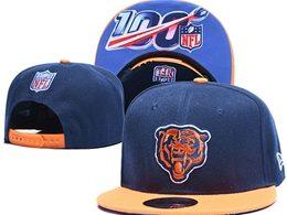 Mens Nfl Chicago Bears Blue 100th Snapback Adjustable Hats