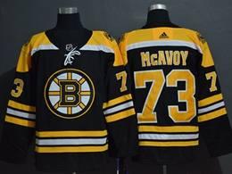 Mens Women Youth Nhl Boston Bruins #73 Charlie Mcavoy Black Adidas Jersey