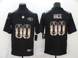 Mens Nfl San Francisco 49ers #80 Jerry Rice Black Statue Of Liberty Vapor Untouchable Limited Jerseys