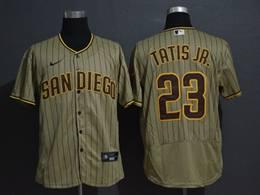 Mens Mlb San Diego Padres #23 Fernando Tatis Jr. Cream Stripe Flex Base Nike Jersey