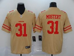 Mens Nfl San Francisco 49ers #31 Raheem Mostert Gold Nike Inverted Legend Vapor Untouchable Limited Jersey