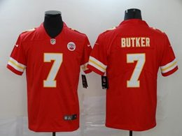 Mens Nfl Kansas City Chiefs #7 Harrison Butker Red Vapor Untouchable Limited Jersey