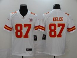 Mens Nfl Kansas City Chiefs #87 Travis Kelce White Vapor Untouchable Limited Jersey