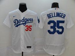 Mens Mlb Los Angeles Dodgers #35 Cody Bellinger White Flex Base Nike Jersey