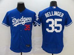 Mens Mlb Los Angeles Dodgers #35 Cody Bellinger Blue Flex Base Nike Jersey