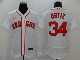 Mens Mlb Boston Red Sox #34 David Ortiz White Flex Base Nike Jersey