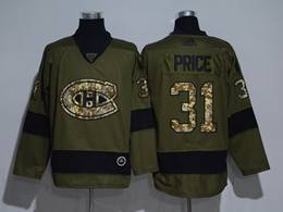 Mens Montreal Canadiens #31 Carey Price Green Throwbacks Adidas Jersey