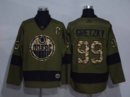 Mens Adidas Nhl Edmonton Oilers #99 Wayne Gretzky Green Throwbacks Adidas Jersey