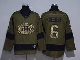 Mens Montreal Canadiens #6 Shea Weber Green Throwbacks Adidas Jersey