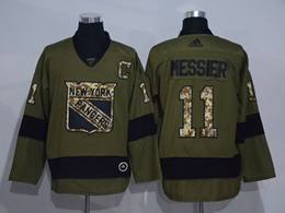 Mens Nhl New York Rangers #11 Mark Messier Green Throwbacks Adidas Jersey