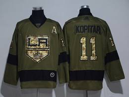 Mens Nhl Los Angeles Kings #11 Anze Kopitar Green Throwbacks Adidas Jersey