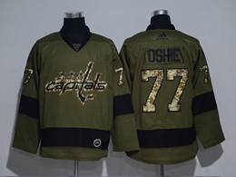 Mens Nhl Washington Capitals #77 T. J. Oshie Green Throwbacks Adidas Jersey