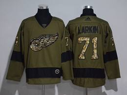Mens Nhl Detroit Red Wings #71 Dylan Larkin Green Throwbacks Adidas Jersey