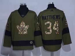 Mens Nhl Toronto Maple Leafs Leafs #34 Auston Matthews Green Throwbacks Adidas Jersey