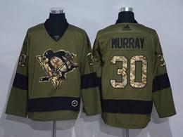 Mens Nhl Pittsburgh Penguins #30 Matt Murray Green Throwbacks Adidas Jersey