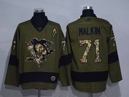 Mens Nhl Pittsburgh Penguins #71 Evgeni Malkin Green Throwbacks Adidas Jersey
