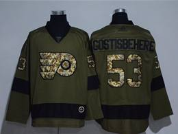 Mens Nhl Philadelphia Flyers #53 Shayne Gostisbehere Green Throwbacks Adidas Jersey