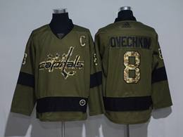 Mens Nhl Washington Capitals #8 Alexander Ovechkin Green Throwbacks Adidas Jersey