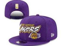 Mens Nba Los Angeles Lakers Purple Snapback Adjustable Flat Hats