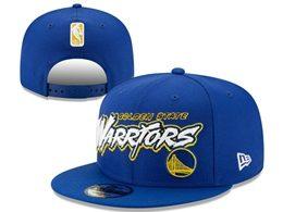 Mens Nba Golden State Warriors Blue Snapback Adjustable Flat Hats