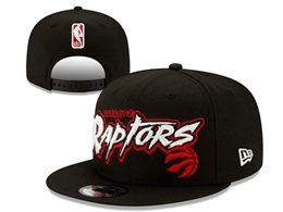 Mens Nba Toronto Raptors Black Snapback Adjustable Flat Hats