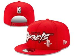 Mens Nba Houston Rockets Red Snapback Adjustable Flat Hats