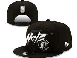 Mens Nba Brooklyn Nets Black Snapback Adjustable Flat Hats
