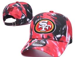 Mens Nfl San Francisco 49ers Multicolour Snapback Adjustable Curved Hats