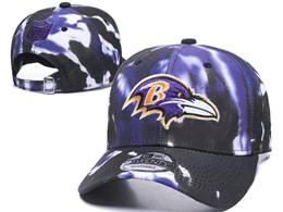 Mens Nfl Baltimore Ravens Multicolour Snapback Adjustable Curved Hats