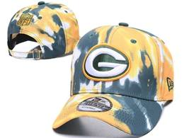 Mens Nfl Green Bay Packers Multicolour Snapback Adjustable Curved Hats