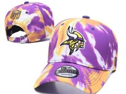 Mens Nfl Minnesota Vikings Multicolour Snapback Adjustable Curved Hats