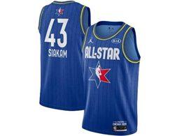 Mens 2020 All Star Nba Toronto Raptors #43 Pascal Siakam Blue Swingman Jordan Brand Jersey