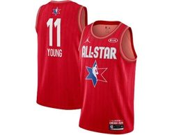 Mens 2020 All Star Nba Atlanta Hawks #11 Trae Young Red Swingman Jordan Brand Jersey