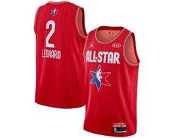 Mens 2020 All Star Nba Los Angeles Clippers #2 Kawhi Leonard Red Swingman Jordan Brand Jersey