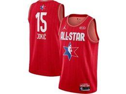 Mens 2020 All Star Nba Nike Denver Nuggets #15 Nikola Jokic Red Swingman Jordan Brand Jersey
